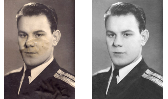 Реставрация военных фотографий